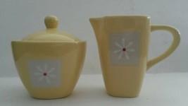 Pfaltzgraff Dazee Sun Yellow Creamer and Covered Sugar Bowl Set Discontinued - $18.82