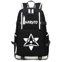 Naruto Theme Fighting Anime Series Backpack Schoolbag Daypack White Sharingan - $37.99