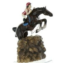 Hagen Renaker Specialty Horse Jumping with Rider Ceramic Figurine image 8