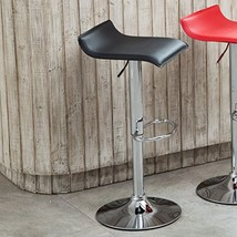 Roundhill Furniture Contemporary Chrome Air Lift Adjustable Swivel Stool... - £49.41 GBP
