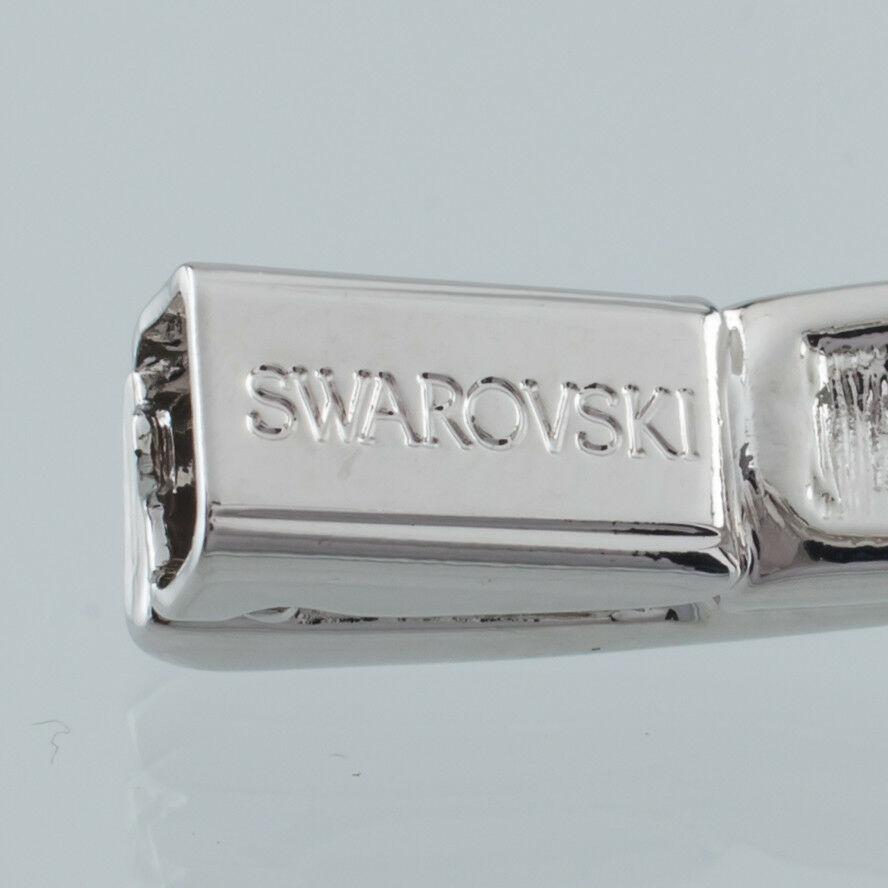 Swarovski Silver-Colored Cristal Pulsera Rígida Bonito