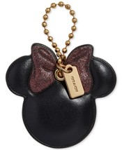 NWT COACH X DISNEY Minnie Mouse Bow Hangtag LTD EDITION PINK BOW Bag Charm - $69.99