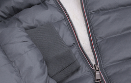Men's Sherpa Lined Lightweight Hooded Zipper Insulated Quilted Puffer Jacket image 8