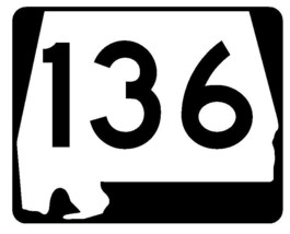 Alabama State Route 136 Sticker R4532 Highway Sign Road Sign Decal - $1.45+