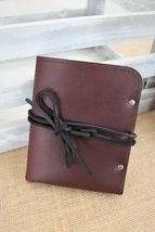 Burgundy Leather Passport Cover, Passport Holder 5 colors - $39.99
