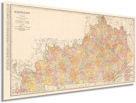 1905 Kentucky State Map - Vintage Kentucky Map Wall Art - Kentucky Artwork for W - $32.99+