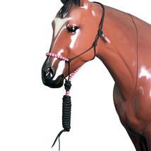 Classic Equine Horse Two Tone  Nylon Halter Fuchsia Lime U-FCLG - $32.62