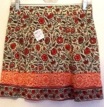 Forever 21 Skirt S New Ethnic Boho Hippie Rayon Peasant Mini Broomstick NWT - $17.50