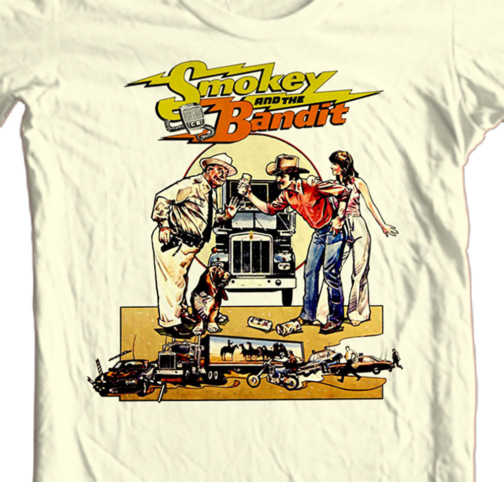 Smokey and Bandit T-shirt Free Shipping Trans Am retro 70' 80's movie cotton tee