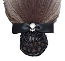 Black Series Hair Net Bowknot Hair Clips Hair Accessories 2 pieces, NO.002 - $329,33 MXN