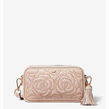 NWT Michael Kors Small Rose Studded Leather Camera Bag Soft Pink - $165.00