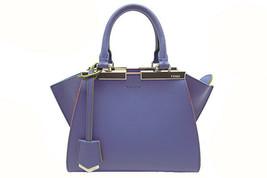 Auth Fendi Leather Handbag Mini 3JOURS Lavender 8BH333 F/S Japan - $1,740.42