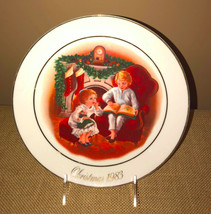 Avon Plate Christmas Memories 1983 Enjoying Night Before Christmas 3rd in Series - $17.99