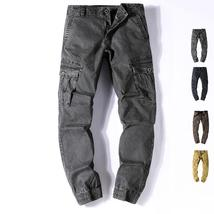 Tactical Cargo Pants Men Combat SWAT Army Military Pants Cotton Many Pockets Str
