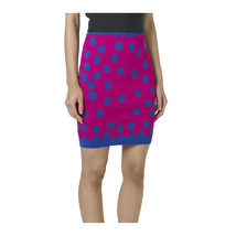 Moschino Boutique Pink Blue Polka Dot Wool Knit Pencil Skirt 38 4 NWT $495 - $172.76