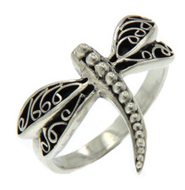 925 Sterling Silver Dragonfly Ring»R12 - $19.95