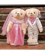 2 pcs/lot 38cm Lovely Couple Wedding Teddy Bear Plush Toys Dolls Stuffed... - $56.30