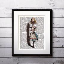 Alice in Wonderland Watercolor Print, Alice in Wonderland Painting, Nurs... - $13.50+
