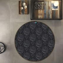 3D Floral Black Art 2 Non Slip Rug Mat Room Mat Round Quality Elegant Carpet AU - $65.06+