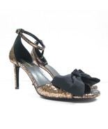 P-433999 New Saint Laurent Jane 80 Gold Glitter High Heel Ankle Strap US... - $247.34