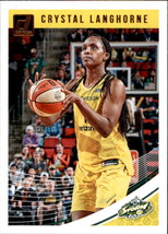 Crystal Langhorne 2019 Donruss WNBA Card #72 - $0.99