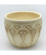 """Antique Unsigned Weller Pottery Clinton Ivory 7"""" Jardiniere Flowers & Ar... - $49.99"""