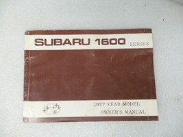 Subaru 1600 Series 1977 Owners Manual 17213 - $13.81