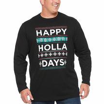 Foundry Men's Big & Tall HAPPY HOLLA DAYS Long sleeve Tee Shirt 3XL NEW - $24.74