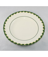 Metlox Bread Plate Philodendron Vernonware Green Embossed Braid Border T... - $5.89