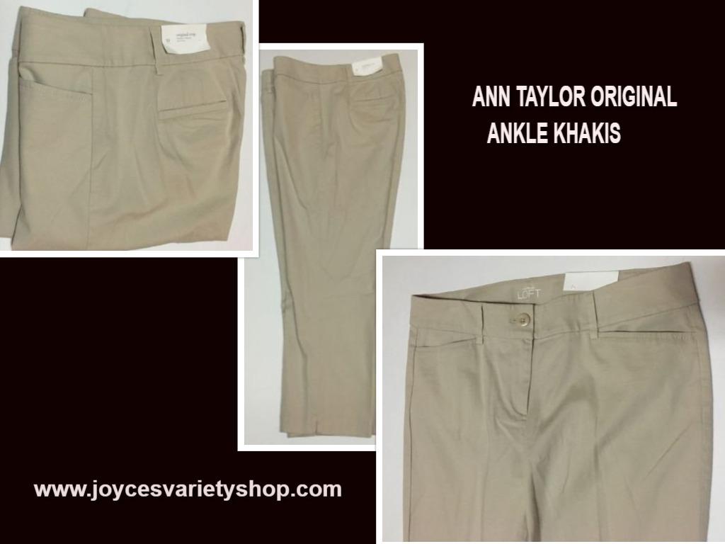 Ann taylor khakis ankle pants web collage