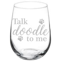 Talk Doodle To Me Doodle Dog Stemmed / Stemless Wine Glass - $14.84+