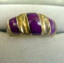 Large Mexico .925 Sterling with Purple Ladies Ring - $21.95