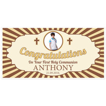 First Holy Communion Photo Banner Personalized ... - $22.50