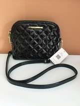 STEVE MADDEN HANDBAG BMARILYN PATENT Black QUILTED With GOLD Hardware - $47.50