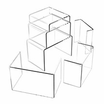 Huaxiangoh 6PCS Clear Acrylic Risers for Display,Home Decor Jewelry Display Rise image 1