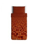 Ikea SMORBOLL Orange Twin Duvet Set Cover and Pillowcase New Great for Dorm - £21.21 GBP
