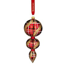Waterford Triple Spire Plaid Ornament Nostalgic Glass Heirloom Christmas... - $49.00