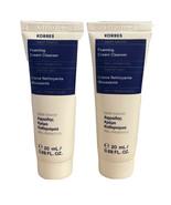 2x Korres GREEK YOGHURT Foaming Cream Cleanser Travel Size 0.68 fl.oz ea... - $8.91