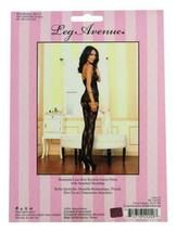 NEW LEG AVENUE WOMEN'S SEXY LACE MINI DRESS WITH ATTACHED STOCKINGS BLACK 89113 image 4