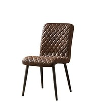 Acme Millerton Vintage Chocolate Top Grain Leather Side Chair Set Of 2 - $978.19