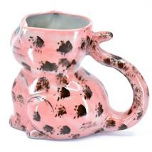 Ceramic Hand Painted Kitten Cat Figure Coffee Cup Mug Handmade Guatemala image 2