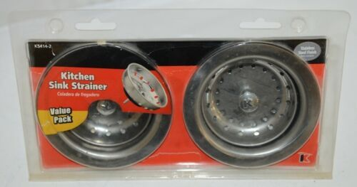 Keeney K54142 Value Pack Kitchen Sink Strainer Stainless Steel Finish