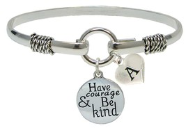 Custom Have Courage and Be Kind Silver Only Bracelet Jewelry Initial or Family - $14.87