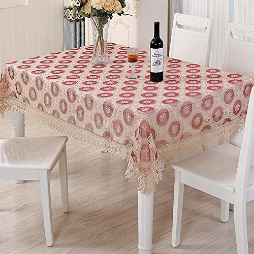 BeautiLife Embroidered Lace Tablecloth Vintage Tablecover for Home and Kitchen D