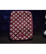 Vera Bradley neoprene Tablet sleeve in Pink and white lattice pattern - $11.50