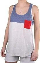 Bench Womens Blue Light Grey Unballoo Tank Top Sleeveless Vest BLGA2531 NWT