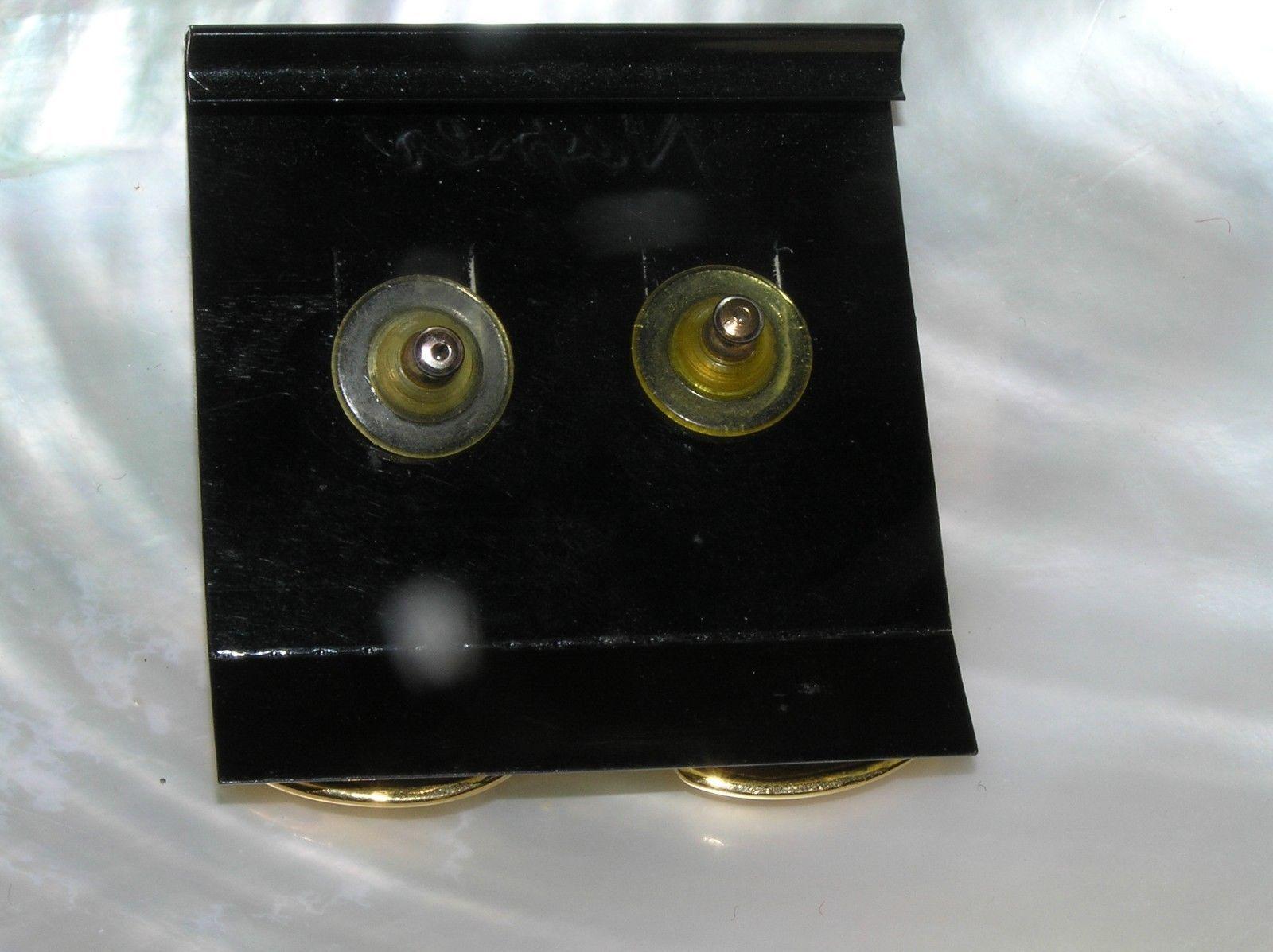Estate Napier Goldtone Teardrop Door Knocker Post Earrings for Pierced Ears –  image 4