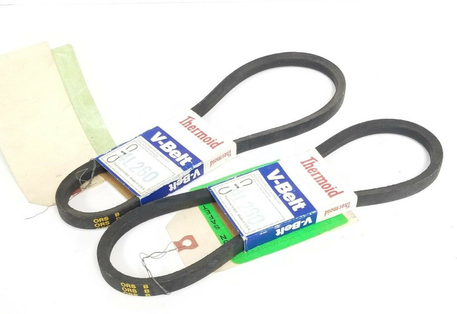 LOT OF 2 NEW THERMOID 4L260 V-BELTS 1/2'' X 26''