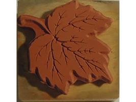 Vintage PSX Leaf Rubber Stamp #E-1046 image 2