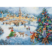 """Dimensions Gold Collection Counted Cross Stitch Kit 16""""X12""""-Winter Celebration - $37.95"""